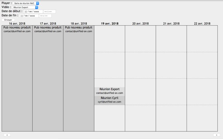 EZplay calendrier affichage dynamique collaboratif
