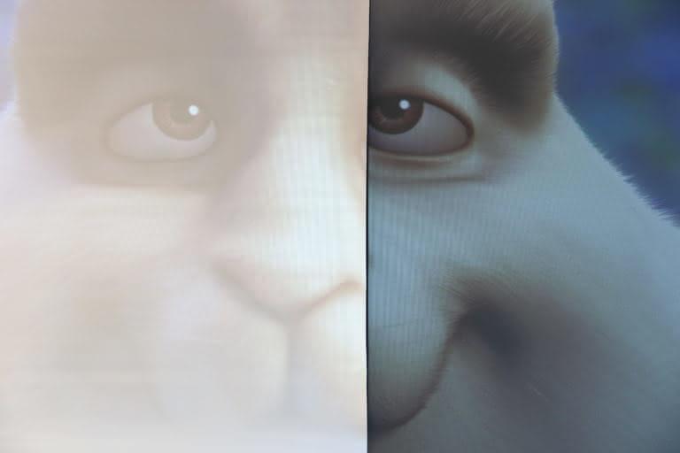 EZshow Ultramat comparatif contraste blanc