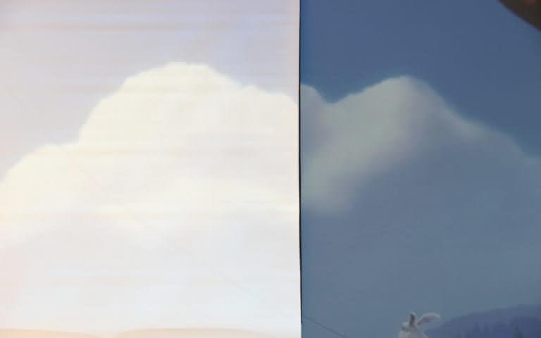 EZshow Ultramat comparatif contraste bleu